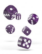 Oakie Doakie Kostky D6 Dice 16 mm Marble - Purple (12)
