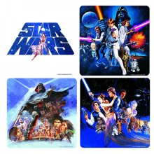 Pivní tácky Star Wars Classic Movie Collection 4 ks