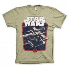 Khaki tričko Star Wars Red Squadron