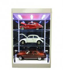 Display Case with Lighting for Model Cars (transparant/white)