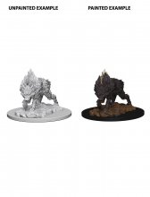 Pathfinder Battles Deep Cuts Unpainted Miniature Dire Wolf Case