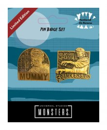 Universal Monsters Odznak 2-Pack Mummy & Frankenstein