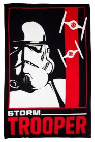 Star Wars fleece deka Stormtrooper 150 x 120 cm