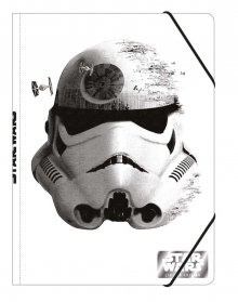 Star Wars Episode VII Elastic Band Folder A4 Stormtrooper Case (