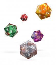 Oakie Doakie Dice D20 Spindown Dice Set Gemidice (5)