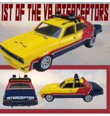 1st of the V8 Interceptors kovový model 1/18 1973 XB Ford Falco
