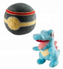 Pokemon Plyšák Totodile with Luxury Poke Ball 15 cm