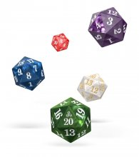 Oakie Doakie Dice D20 Spindown Dice Set Marble (5)