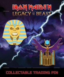 Iron Maiden Legacy of the Beast 2-pack Odznak Trooper Pharaoh