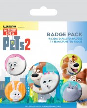 The Secret Life of Pets 2 sada odznaků 5-Pack For Pet's Sake