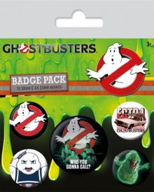 Ghostbusters Pin Badges 5-Pack Who You Gonna Call