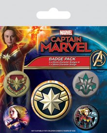 Captain Marvel sada odznaků 5-Pack Patches