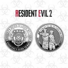Resident Evil 2 Collectable Coin Raccoon Police (silver plated)