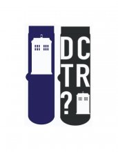 Doctor Who Mens ponožky 2-Pack Tardis