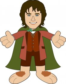Lord of the Rings Plush Figure Frodo 25 cm
