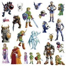 The Legend of Zelda Giant Vinyl Wall Decal Set Ocarina of Time 3