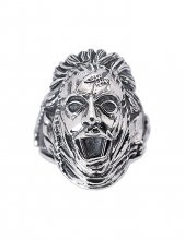 Texas Chainsaw Massacre Ring Leatherface (Sterling Silver) Size