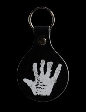 Lord of the Rings Leather Keyring White Hand of Saruman