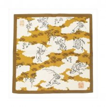 Ukiyo-e Wrapping Cloth Chojujinbutsugiga Hills and Fields 50 x 5