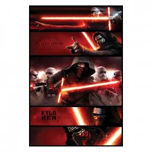 Plakát Star Wars Episode VII Kylo Ren Panels 61 x 91 cm
