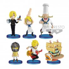 One Piece WCF ChiBi Figures 7 cm Assortment History of Sanji (28
