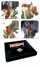Hellboy podtácky Set Mignolas Classic Watercolors