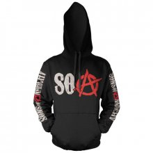 Sons of Anarchy hoodie mikina SOA Grey Distressed