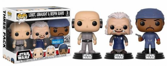 Star Wars POP! Vinyl Figure 3-Pack Lobot, Ugnaught & Bespin Guar