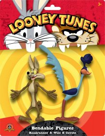 Looney Tunes Bendable Figures 2-Pack Roadrunner & Wile E Coyote