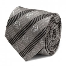 Star Wars Tie Darth Vader Chequered Grey