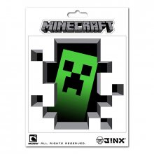 Nálepka Minecraft Creeper Inside