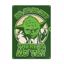 Star Wars Tin Sign Yoda Try 21 x 15 cm