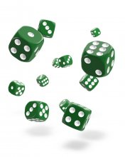 Oakie Doakie Kostky D6 Dice 12 mm Solid - Green (36)