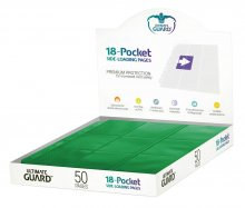 Ultimate Guard 18-Pocket Pages Side-Loading Green (50)