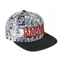 Marvel Snapback kšiltovka Comic Black & White