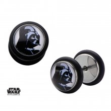 Star Wars Screw Back Earrings Darth Vader Helmet Graphic Front
