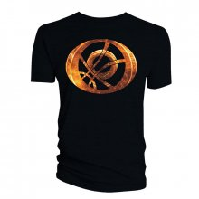 Doctor Strange tričko Orange Symbol Oblong black