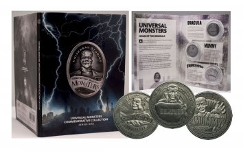 Universal Monsters Commemorative Collection Collectable Coin 3-P
