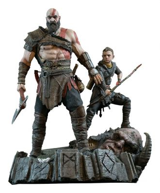 God of War 2018 Socha Kratos & Atreus 38 cm