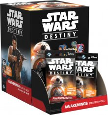 Star Wars Destiny Dice and karetní hra Awakenings Booster Displa