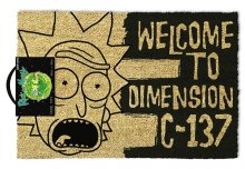 Rick & Morty rohožka Dimension C-137 Black 40 x 57 cm