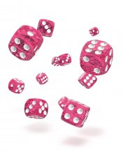 Oakie Doakie Kostky D6 Dice 12 mm Speckled - Pink (36)