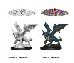 D&D Nolzur's Marvelous Miniatures Unpainted Miniatures Blue Drag