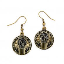 Fantastic Beasts Magical Congress Earrings (antique brass plated
