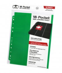 Ultimate Guard 18-Pocket Pages Side-Loading Green (10)