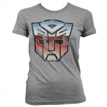 Transformers dámské tričko Autobot Shield Heather Grey