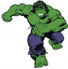Marvel Comics Giant Vinyl Wall Decal Set Classic Hulk Comic