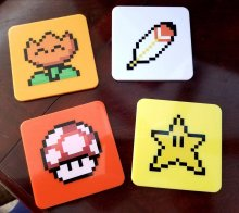 Super Mario World podtácky 4-Pack Power-Ups Lootcrate Exclusive