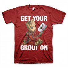 Guardians Of The Galaxy T-Shirt Rocket & Groot Tango Red