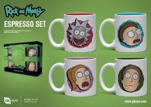 Rick and Morty hrnky na espresso 4-Pack Characters